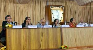 Profs. Nirmalya Narayan Chakraborty, Kuntala Bhattacharya, J.L. Shaw, Sabujkoli Sen, Uma Chattopadhyay, and Br. Ayon.